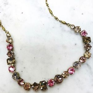 "Sorrelli ""I'm so Pretty"" Pink & Topaz Necklace"